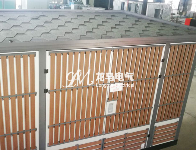 欧式敷铝锌挂木条景观箱变